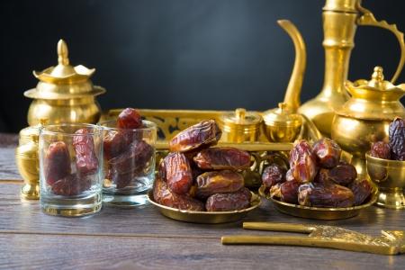 Getrocknete Früchte oder Dattelpalme kurma, Ramadan Essen Lizenzfreie Bilder