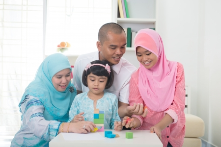malay family learning together with lifestyle    Stock Photo - 24205680