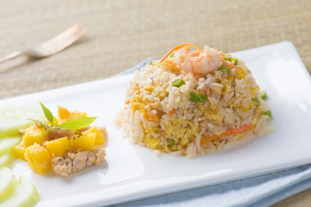 chinese fried rice , or nasi goreng popular cusine in asia