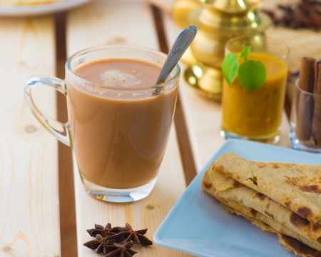 teh: roti canai and teh tarik, very famous drink and food in malaysia