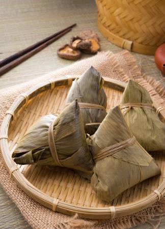dumplings: chinese Rice dumpling on set up