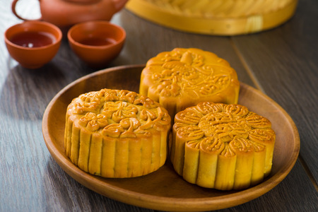 Traditional Chinese mid autumn festival food