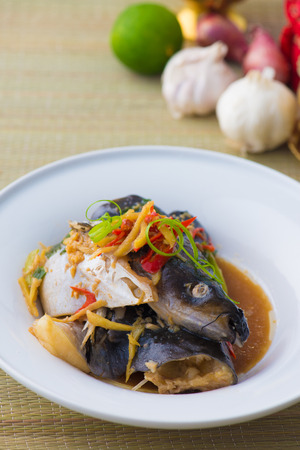 steamed Fish head soup, popular in east asia photo
