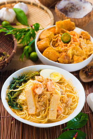 singapore prawn noodles photo