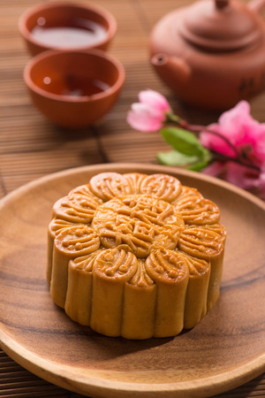 traditional chinese mooncake in festival photo