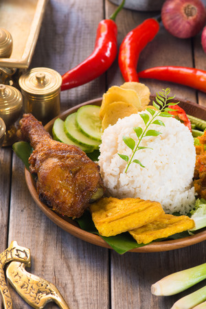 indonesian food: indonesian food, fried chicken rice