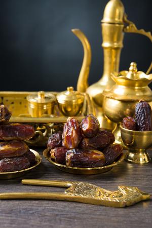 ramadan plam dates, eaten before aidilfitri festival photo