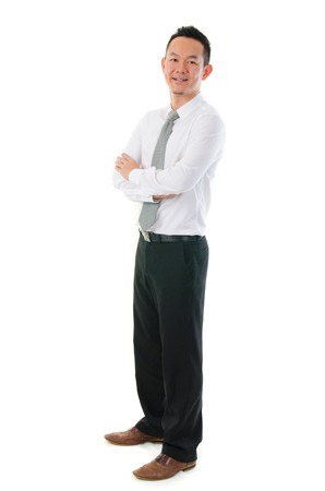 Young Asian business man isolated on white background  photo