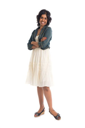 pencil skirt: casual indian female with skirt
