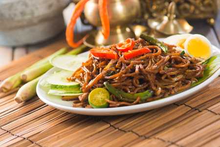 stir: fried noodle with backgrounds