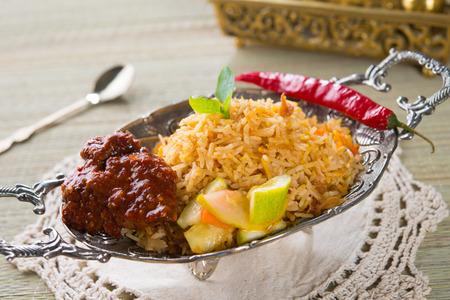 india food: Chicken Biryani rice