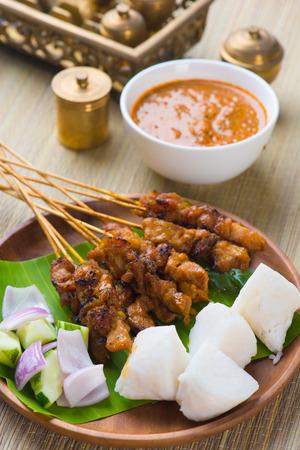 chicken satay popular asian dish   photo