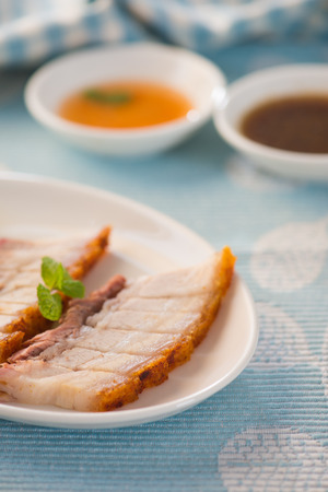 belly pepper: chinese roast pork Stock Photo