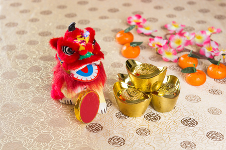 cai: chinese new year decorations Stock Photo