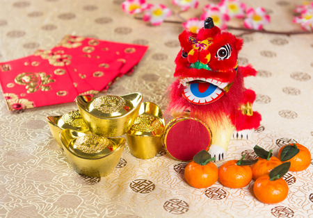 gong xi fa cai: chinese new year decorations Stock Photo