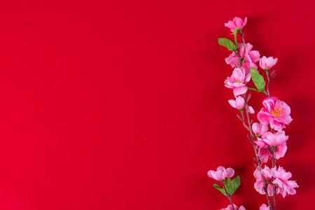 Chinois nouvelles décorations année haut en bas vue avec copyspace Banque d'images - 35160373