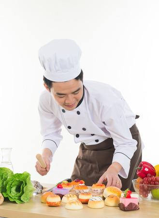 asian chef: asian chef preparing foods