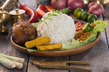 nasi: Balinese Nasi campur Stock Photo
