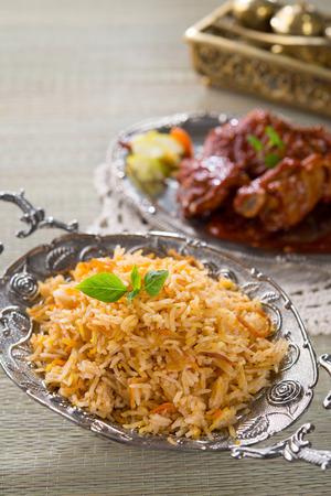 non vegetarian: Biryani Stock Photo