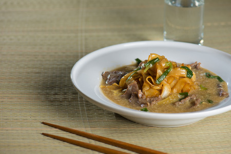 cantonese: wat tan hor, popular cantonese fried noodle with beef