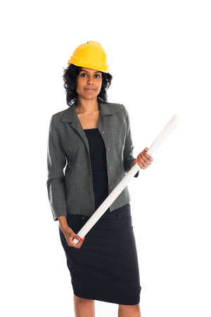 sexy construction worker: indian female engineer Stock Photo