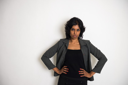 admonish: angry indian business woman