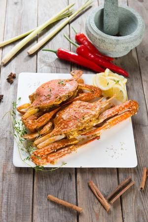 spicy food: asian style spicy chilli crab, ketam masak cili