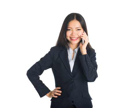 asian businesswoman: asian female business woman on a phone