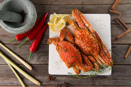 Style asiatique piment épicé crabe, Ketam masak cili Banque d'images - 45116522