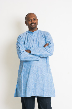 dhoti: traditional indian male in dress