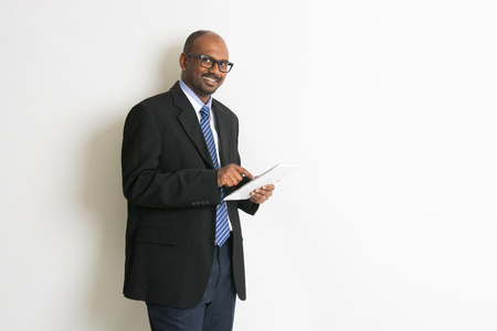 indian people: indian business man in tablet