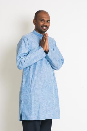 kurta: traditional indian male on greetings