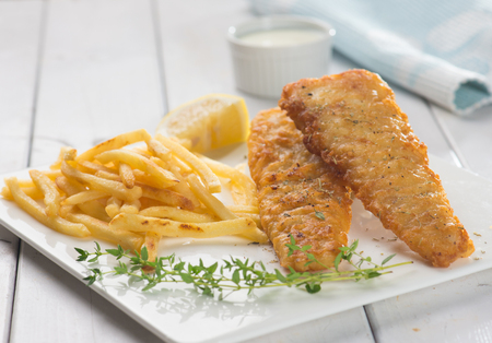 fillets: fish and chips