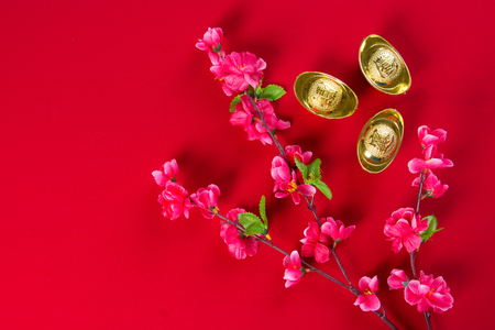packet: chinese new year decorations Stock Photo
