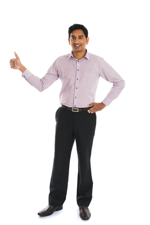 indian professional: indian business male with thumbs up and smiling