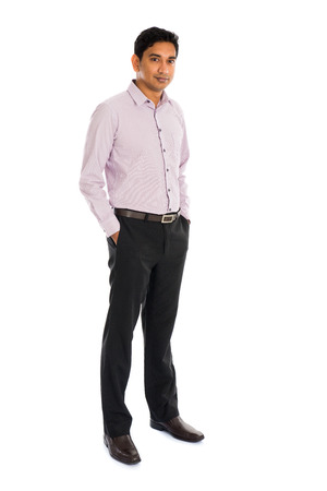 standing businessman: formal indian business man with white background
