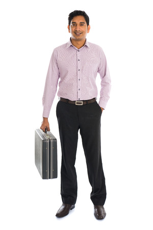 briefcase: indian business male with suitcase