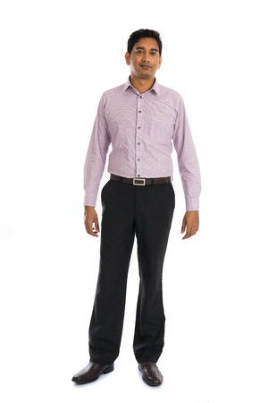 indian male: formal indian business man with white background
