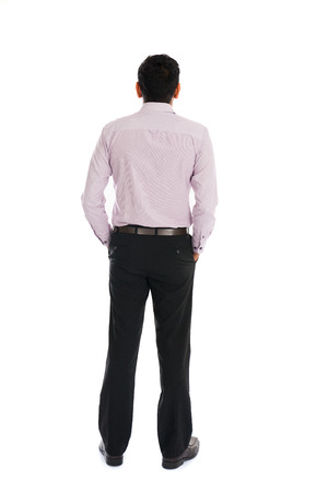 back view: back view of indian business male Stock Photo