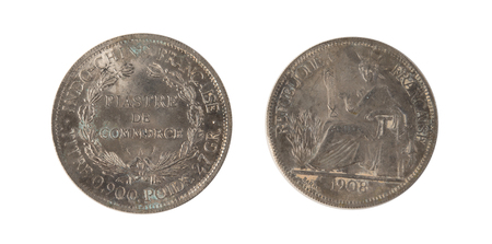 indochina: 1908 A French Indo-China Silver 1 Piastre Trade Dollar