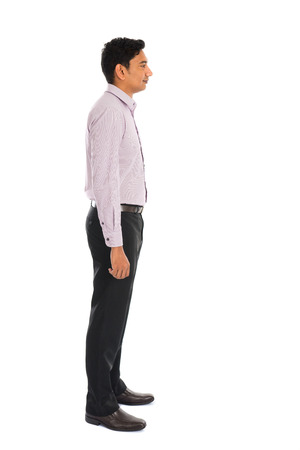 1 mature man: serious indian male business man with isolated white background full body