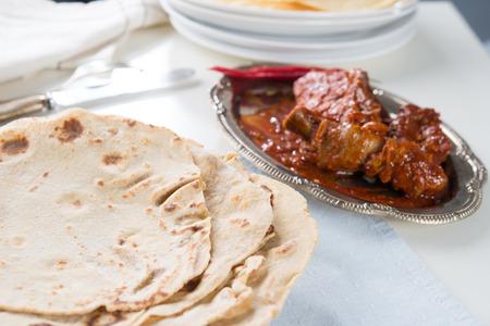 studio shots: Indian flat-bread called chapati i