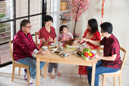 Chinese new year reunion dinner, part of Chinese culture to gather during eve
