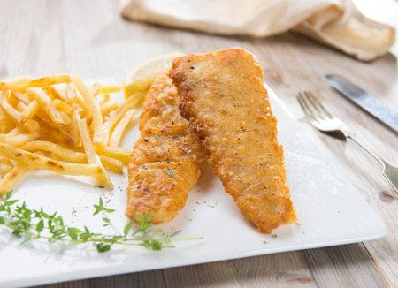 vegetable tin: fish and chip