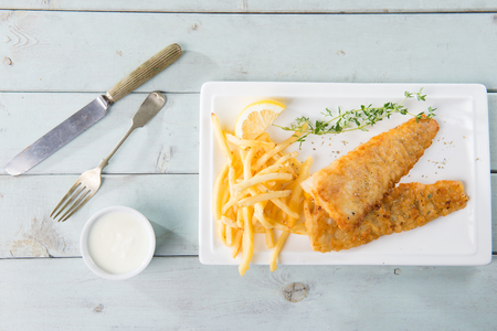 fish and chips: fish and chips