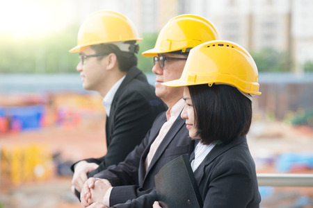 construction workers: asian Construction personnel