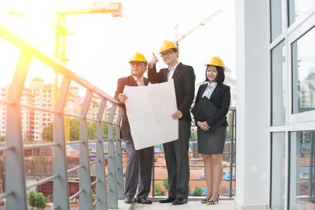 asian architect: asian Construction personnel