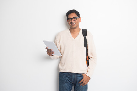 studious: Portrait of a college student Stock Photo