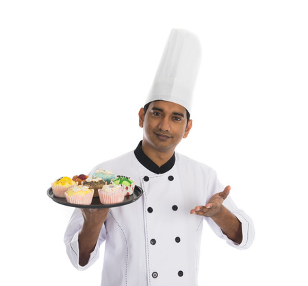 chef kitchen: indian male chef Stock Photo
