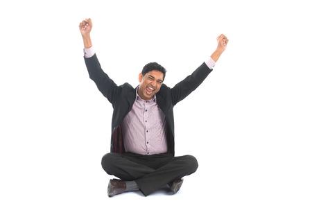 pakistani ethnicity: indian male celebrating success Stock Photo